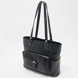 Patricia Nash Black Leather Bolsena Tote